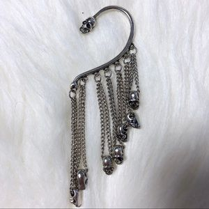Skull Dangle Ear Cuff